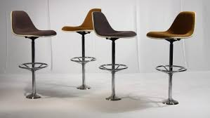 eames bar stool. Exellent Eames These Bar Stools Made From Brown Hopsack On A Polyester Shell Standing  Bolted Chromed Throughout Eames Bar Stool