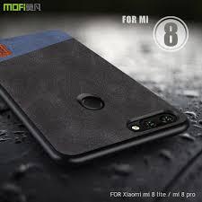 For Xiaomi mi 8 lite case cover <b>MOFI Xiaomi mi 8</b> pro Fabric leather ...