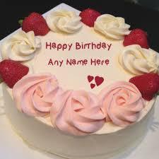 Bday Cake With Name Edit For Girl Freshbirthdaycakesga