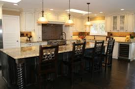 cream colored kitchen cabinets white shaker dark island cliff best staining honey oak with raised panel