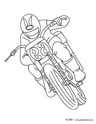 Coloriages Coloriage Moto De Course Gratuit Fr Hellokids Com