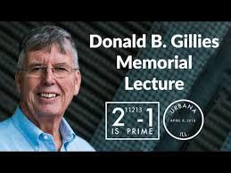 Donald B Gillies Lecture Dr Michael Stonebraker