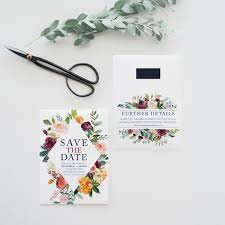 Save The Date No Photo Blush Pink And Wine Red Save The Dates