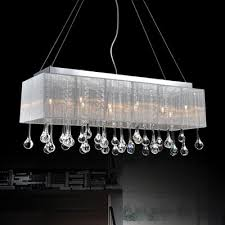 cwi lighting water drop rectangular crystal chandelier