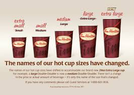 Starbucks Cup Size Chart Tim Hortons Supersizes Its Coffee Cups The Star