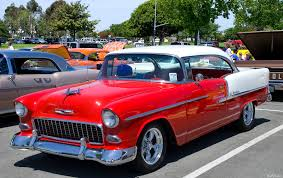 1955 Chevrolet Bel Air Sport Coupe - white over red - fvl ...