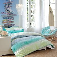 Bedroom:Luxurious Teen Girl Bedroom In Elegant Blue Decoration Ideas  Charming Beach Themed Bedroom For