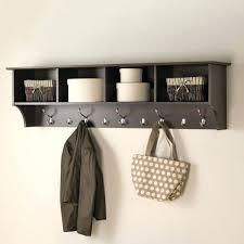 office coat hooks. Inspiring Furniture Espresso 9 Hook Mounted Coat Rack Modern Office Hooks
