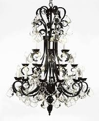 top 54 fantastic rod iron chandelier foyer chandeliers black wrought pendant lights antler crystal large size