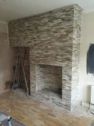 oyster slate fireplace after installation right hull