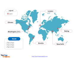 Editable World Map For Powerpoint World Map Free Powerpoint Templates Free Powerpoint Templates