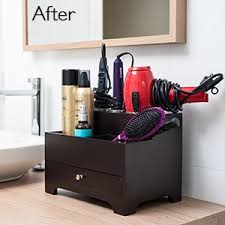 Stock Your Home Hair Care Organizer For Use As A Hair Accessories Organizer,  Makeup Organizer, Hair Dryer Storage & Bathroom Organizer