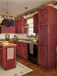 rustic red kitchen 30 pictures