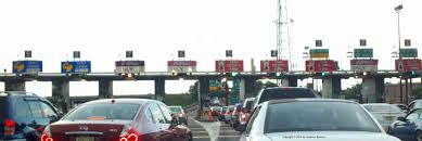 garden state parkway toll booth traffic jam e zpass