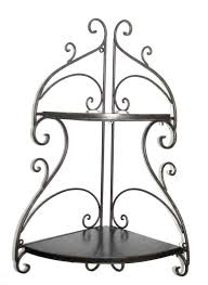 Wrought Iron Home Decor Accents Tuscan Wrought Iron 100 Tier Corner Wall Shelf This beautifully 21