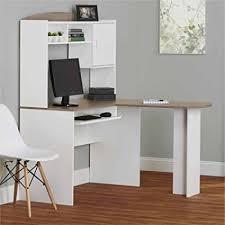 l office desk. Corner L Shaped Office Desk With Hutch (White/Sonoma Oak)