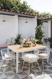white metal outdoor furniture. White Metal Outdoor Dining Set Designs Furniture H