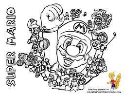 Mario Bros Coloring Super Mario Bros Free Coloring Pages