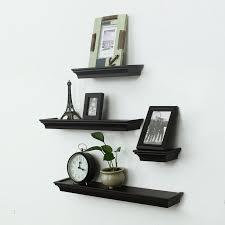 adeco decorative home decor black wood floating wall shelves