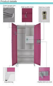 Locker Bedroom Furniture Kd 2 Door Steel Cloth Locker Wardrobe Bedroom Furniture Buy