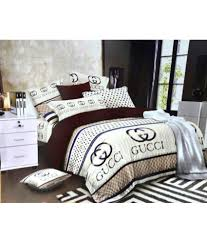 Designer Comforter Sets Gucci Gucci Cotton Double Bedsheet With 2 Pillow Covers Buy