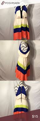 Gb Gianni Bini Color Block Keyhole Dress Gb Gianni Bini Size