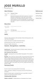 Tutor Resume Beauteous Student Tutor Resume Samples VisualCV Resume Samples Database