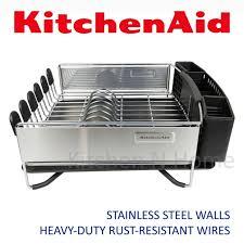 kitchenaid dish rack beautiful kitchenaid dish rack with tray utensils holder stainless steel