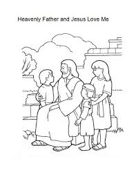 I am that bread of life (john 6:48). Heavenly Father And Jesus Love Me Coloring Page Jesus Coloring Pages Lds Coloring Pages Bible Coloring Pages