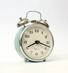 vintage alarm clock sevani from armenia turquoise clock