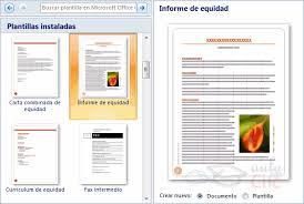 formato de informe en word curso gratis de microsoft word 2007 unidad 10 plantillas i