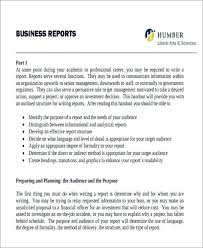 Sample Business Report Free Example 253634600037 Formal Report