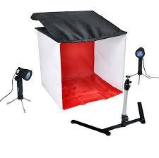 com cowboystudio table top photo studio light tent kit in a box 1 tent 2 light set 1 stand 1 case photographic lighting photo