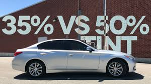 35 window tint comparison. Simple Comparison 35 Vs 50 Car Window Tint Comparison On My Infiniti Q50 For 35 YouTube