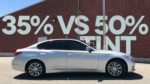35 Vs 50 Car Window Tint Comparison On My Infiniti Q50