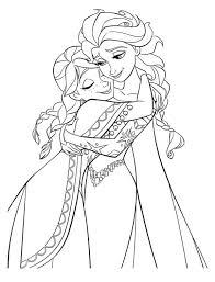 Small Picture Anna Hugging Elsa the Snow Queen Coloring Page Download Print