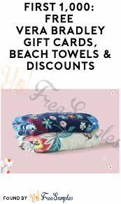win free vera bradley gift cards beach