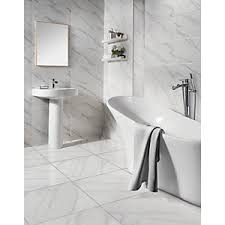 white bathroom tiles. Interesting Bathroom Wickes Calacatta Gloss White Glazed Porcelain Tile 605 X 605mm With Bathroom Tiles H