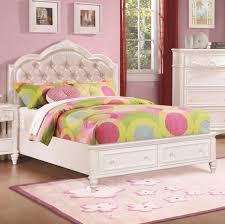 ine twin size storage bed w diamond tufted headboard