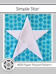 Simple Star 215 Paper Pieced Quilt Pattern PDF 3 Sizes & 🔎zoom Adamdwight.com