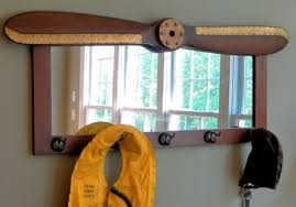 Coat Rack With Mirror Wood Propeller Coat Rack Mirror A Simpler Time 55