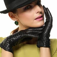 Warmen <b>Luxury Brand</b> Design <b>Genuine Leather</b> Gloves with ...