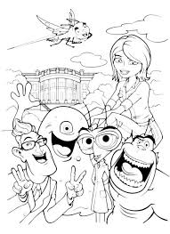 Small Picture Picture of Monster vs Aliens Coloring Page Picture of Monster vs