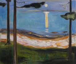 moonlight edvard munch hand painted oil painting replica