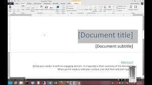 Cover Page For Word Document How To Remove A Cover Page In Microsoft Word 2013