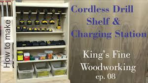 Hanging Charging Station 08 How To Build A Cordless Drill Shelf And Charging Station To