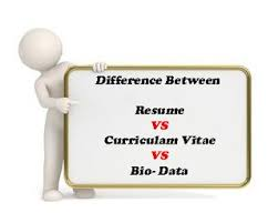 Easy Understand Difference Of Resume Cv And Biodata