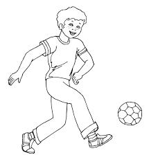 Bimbo Che Gioca A Calcio Stampa E Colora Gratis Disegni Da