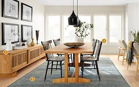 room and board dining tables. hart dining table in natural cherry room and board tables