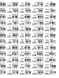 72 Methodical Piano Chord Chart Sheet